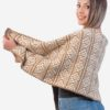 INTI0243 PERUVIAN ALPACA SHAWL WITH ANDEAN PATTERN