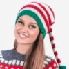 INTI0376 Intialpaca Christmas Elf Hat hand knit in soft alpaca wool
